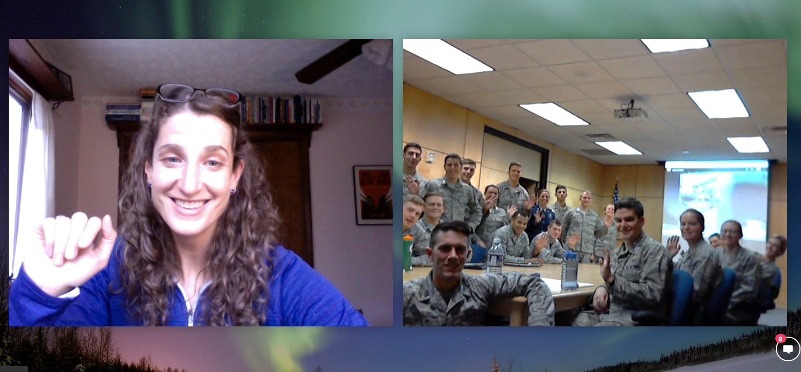 Skype with US Air Force Academy Cadets